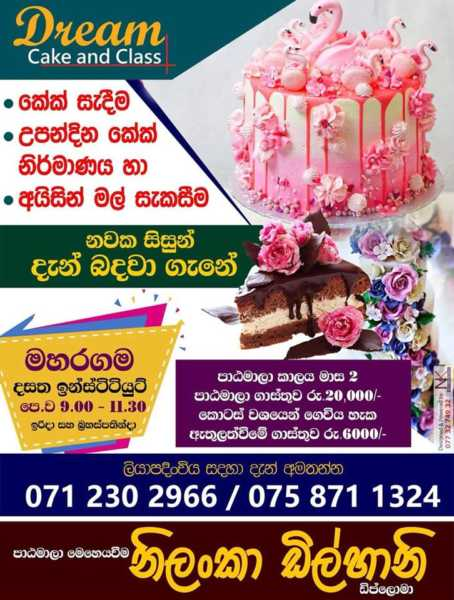 Cake making and decoration classes