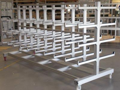 Aluminum Showcases and Racks
